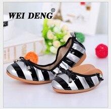 size(35-40) women Patent leather flat shoes Women's folding soft bottom anti-slip breathable flat fashion shoes