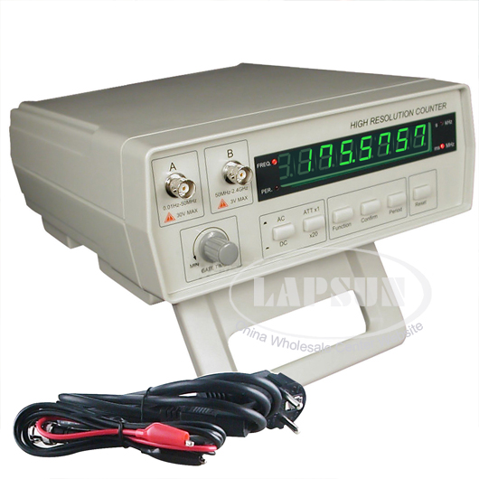 Frequency Counter Tester Test Equipment 0 01Hz 2 4GHz with Period Measuring 0 5ns 10s AC110