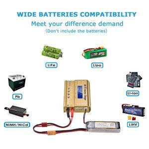 Image 3 - Htrc B6 V2 80 ワットバッテリーバランス充電器 15v 6A acアダプタ + 1 ケーブルで 8 + リポ安全なバッテリーガード防爆バッグ放電
