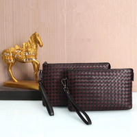 Kaisiludi leather men's bag hand woven cowhide cowhide men's envelope new hand grab bag for men and women