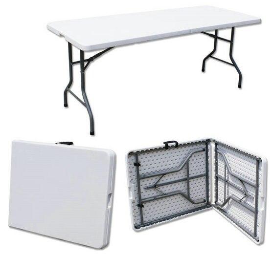 180*74*74 cm Polyvalent Portable table pliante Longue Conférence bureau En Plein Air table de Pique-Nique