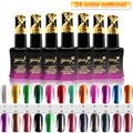 1SET/6PCS Metal Color 4 pcs Soak off UV Gel Nail Polish Choose from 24 Colors + 1pcs Base Gel + 1pcs Specialty  Top Coat