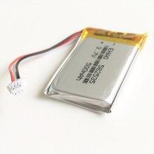 3.7V 500mAh lipo polimerowy akumulator litowy JST 1.0mm dla MP3 GPS DVD rejestrator bluetooth zestaw słuchawkowy e-book aparat 582535