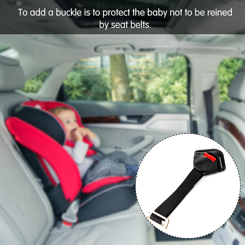 Onever Black Car Safety Seat For Baby Clip Fixed Lock Buckle Safe Belt Strap Harness Chest