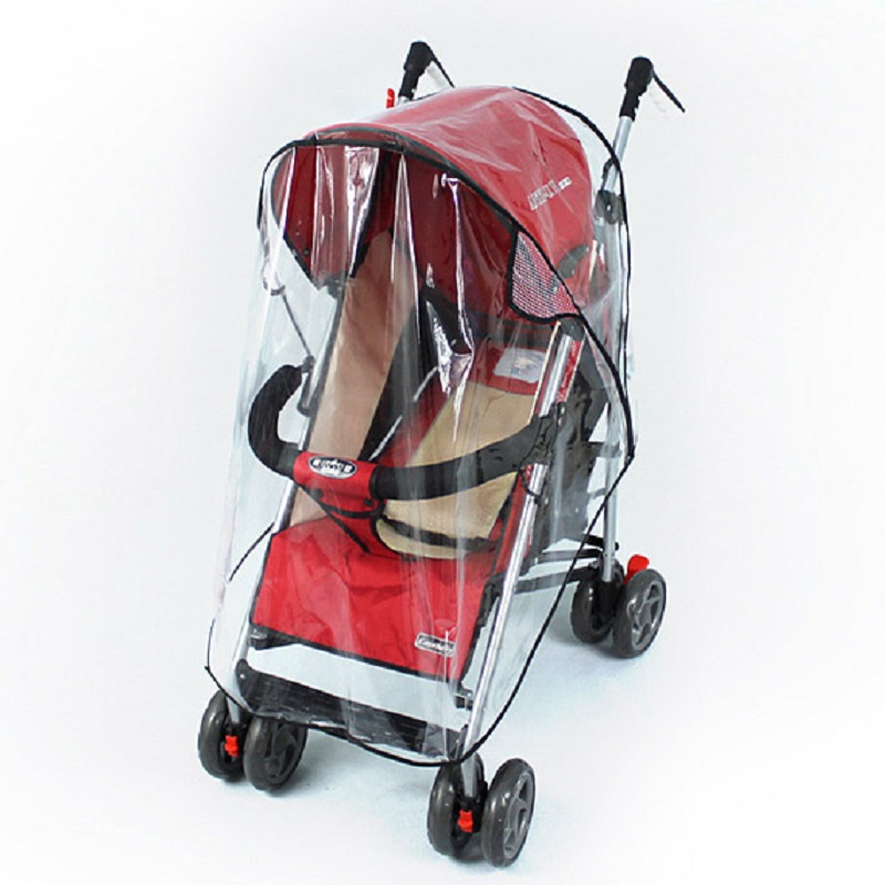 Universal Strollers Pushchairs Baby Carriage Waterproof Dust Rain Cover Windshield Stroller Stroller Accessories