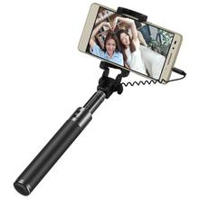 Original Huawei Honor wired Selfie Stick monopod Wired Extendable Handheld Shutter for Huawei iPhone Android smart phone