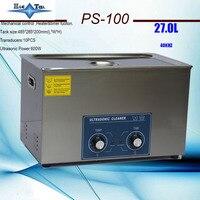 600w wärme & timer ultraschall reiniger 27L PS-100 1 8 MM tank dicke für auto teile  reinigung ausrüstung