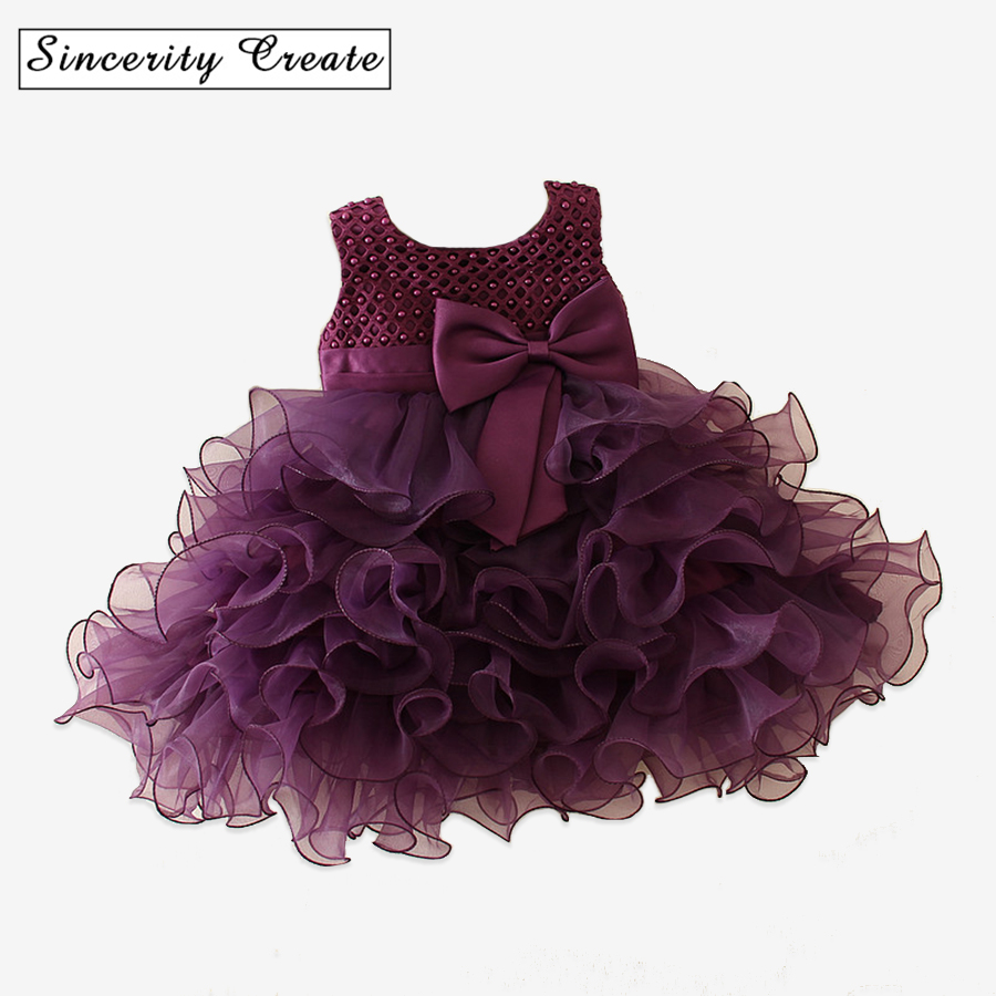 New Wedding Party Formal Ball Gown Flowers Girl Dress Baby Pageant Dresses Birthday Cummunion Toddler Kids Tulle Custom AD-1644 4pcs new for ball uff bes m18mg noc80b s04g