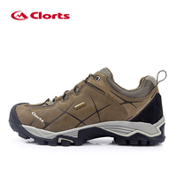 CLORTS Outdoor Hiking Sneakers For Men Genuine Leather Camping Walking Shoes Man Professional Massage Trekking Shoes