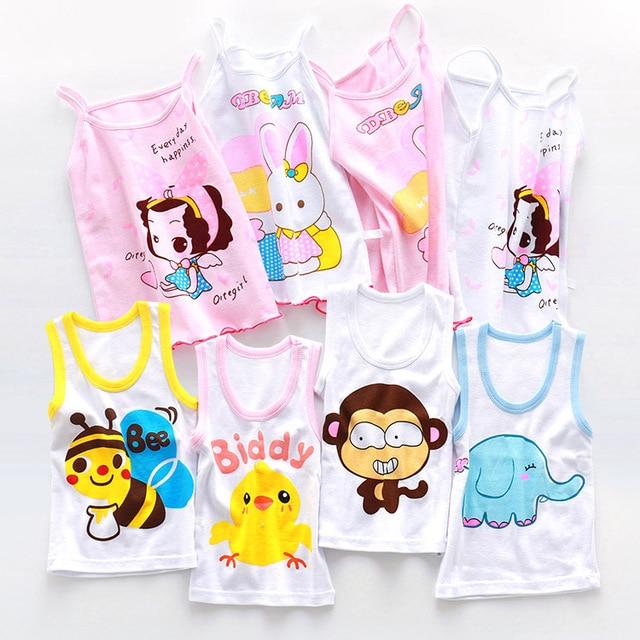 100% Cotton Baby Girls Vest Kids Camisole Children Tops Summer Baby Singlet Girls Undershirts Teenager Tank Toddler Tees T-shirt