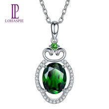 Chrome diopsidendant promotion shop for promotional chrome lohaspie diamond jewelry solid 18k white gold natural chrome diopside pendant gemstone fine jewelry for women w silver chain aloadofball Images