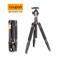 QZSD Q666 Tripod With Q 02 360 Degree Swivel Fluid Head For Canon For Pentax For