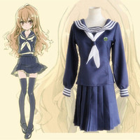 Anime TIGER DRAGON Toradora Aisaka Taiga salior Costume Cosplay sexy costumi di halloween per le donne Scuola Suit Uniform