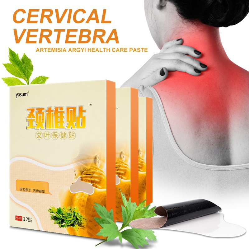 Self Heating Patch Wormwood Sticker Neck Back Shoulder Pain Relief 12pcs/set