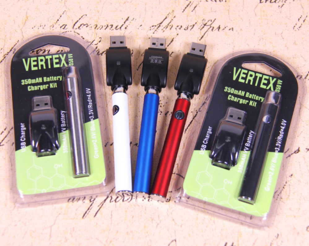 US $5 28 |Preheat Battery Vertex Blister Pack with USB Charger 350mAh  Adjustable Voltage Preheating Bud 510 Battery for Vape Cartridge Kit-in