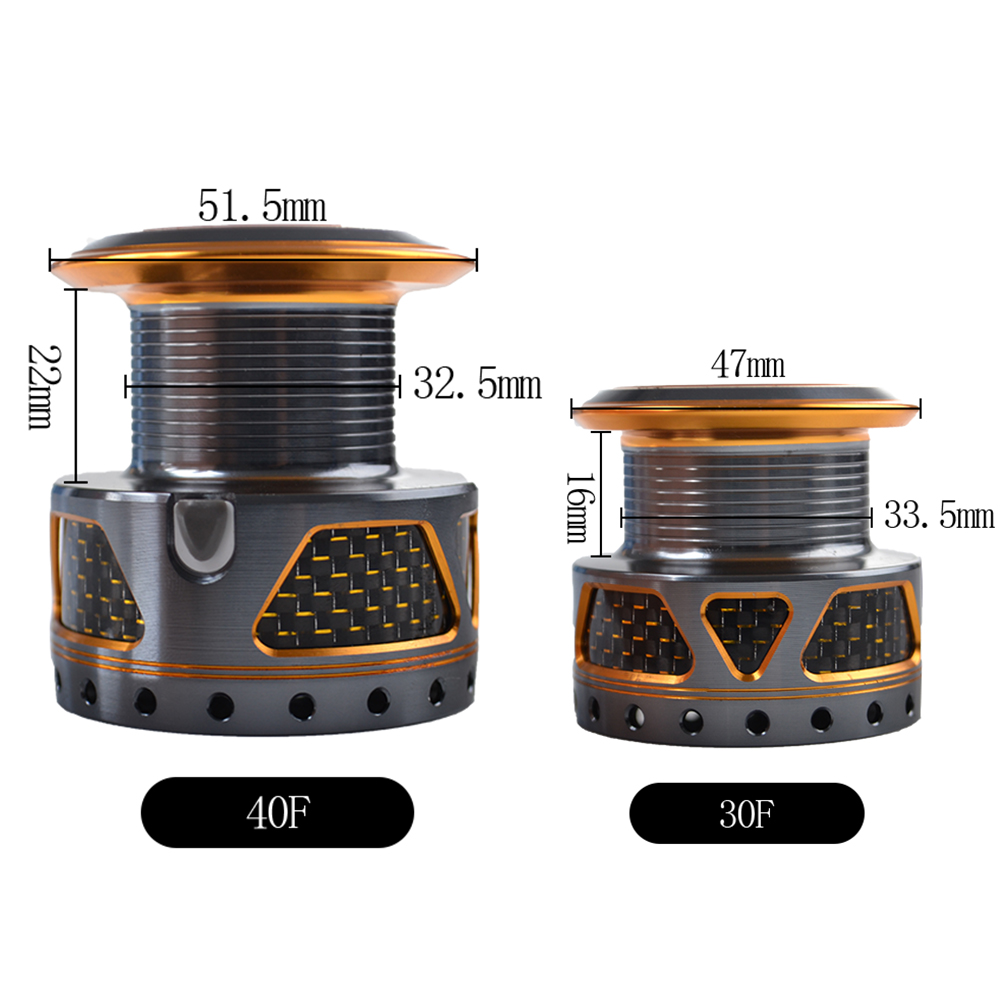 W.P.E SC16-30F/40F High Speed Spinning Reel 5.5:1 9+1 Ball Bearings Fishing Tackle All Metal Carp Fishing Spinning Wheel
