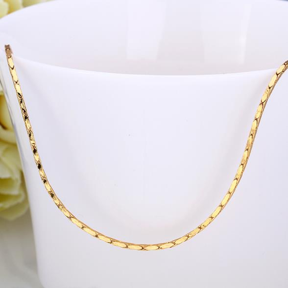 Necklace  Chain Trendy Jewelry necklace women men 1.5MM 18 Inches Thick Gold Chain   eerr LGPC007-18