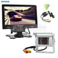 DIYKIT Wireless 7 Inch Touch Monitor Rear View Kit For Horse Trailer Motorhome Backup CCD Waterproof