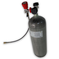 High pressure with 300 bar pressure 9L carbon fiber cylinder for fill air to Paintball gun game and diving with valves-K