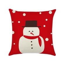 2019 Christmas Gifts Festival Flower Pattern Cotton Linen Throw Pillow Cushion Cover Car Home Sofa Decorative Pillowcase цена 2017