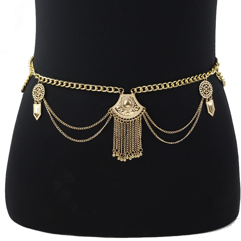 Festival Belly Chain Belt Sexy Gold Color Body Chain Women -7411