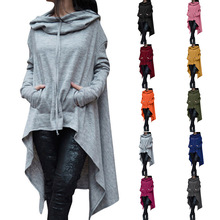 S-5XL women hoodies long casual leisure blouse tops  plus size winter autumn spring hoodie
