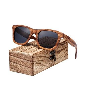 cbb8564532 Gafas de sol Retro polarizadas BARCUR Vintage Natura Zebra madera para  hombre y mujer gafas de sol cuadradas