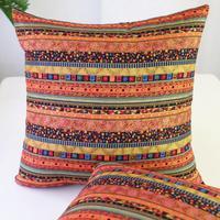 Nostalgia Retro Decorativo Travesseiro Cobre listras bonitas Condução Linen Fronha Almofadas Decorativas de Natal de Linho AU023
