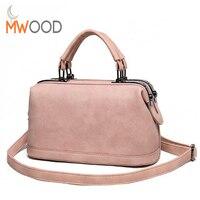 2016High Quality Vintage Matte Leather Doctor Bag Women Famous Design Handbag Casual Shoulder Messenger Bag Small