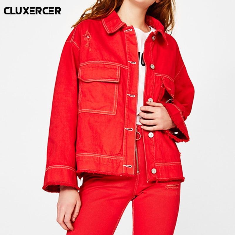 Women Basic Coats Spring And Autumn Women Denim Jacket 2018 Vintage Long Sleeve Loose Female Jeans Coat Casual Girls Outwear
