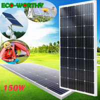 150W High efficiency Mono Solar Panel for 12V Battery Charge Power Supply