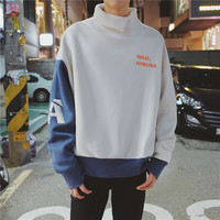 2018 New Fashion Teen Trend Korean Version The Retro Wild College Wind High Quality Letter Printing Loose Hooded sweatshirts