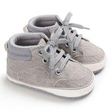 Весенняя обувь для малышей нескользящая обувь для маленьких мальчиков, мягкая подошва, искусственная кожа, обувь для малышей, спортивная обувь для малышей 0-18 месяцев