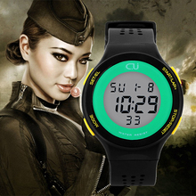 2016 New Brand CU Men Sports Watches Military Watch Women Casual LED Digital Multifunctional Wristwatches Waterproof Student