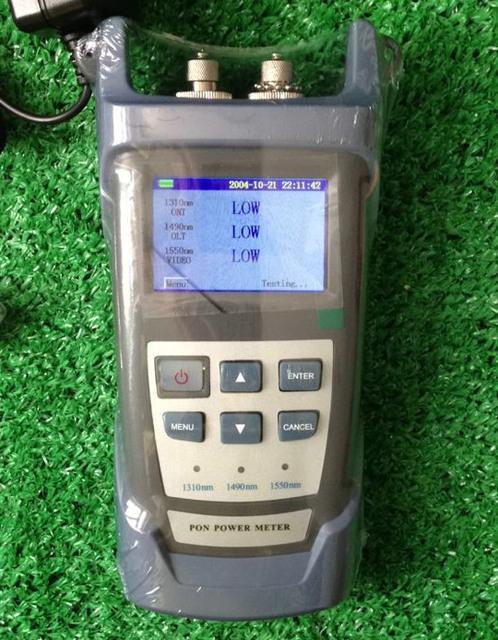 Ry3201 alta precisión PON medidor de potencia óptica junta universal de pantalla LCD