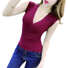 Tank Top vetement femme 11 Colors Fashion Vest Casual Sleeveless Sexy V-Neck Women Summer Korean Knitted Cotton Womens Clothes