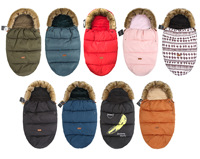 Baby Sleeping Bag Winter Windproof Kids Baby Stroller Foot muff Baby Sleeping Bags Sleepsacks Newborn Velvet Warmer Sleepsack