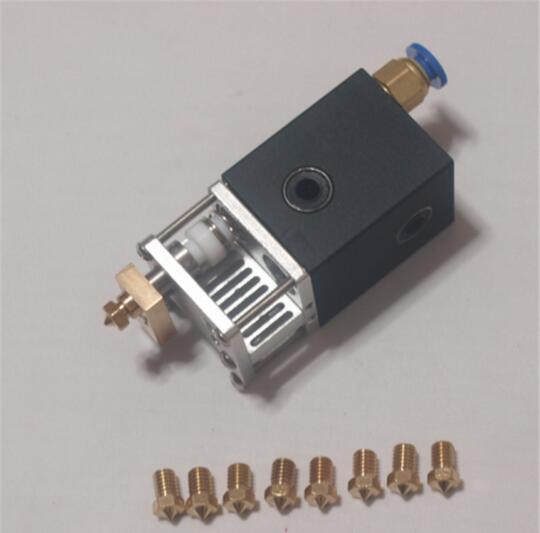 Ultimaker 2+ UM2 3D printer all metal aluminum alloy printing hotend 1.75mm and 3mm changable Olsson block nozzle kit aluminum v6 hot end mount kit 1 75 3mm for ultimaker original ultimaker 2 um 2 extended 3d printer nozzle extrusion kit