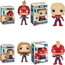 Funko POP Anime Captain Marvel Vinyl Doll Boy Girl Friend Birthday Movie Action Figure Collectible Toys