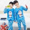Retail 2015 Nueva Otoño de Los Bebés Niñas Niños Niños de la Historieta Pijamas Pijamas ropa de Dormir Pijamas Conjunto Conjuntos de Ropa para 3-13y