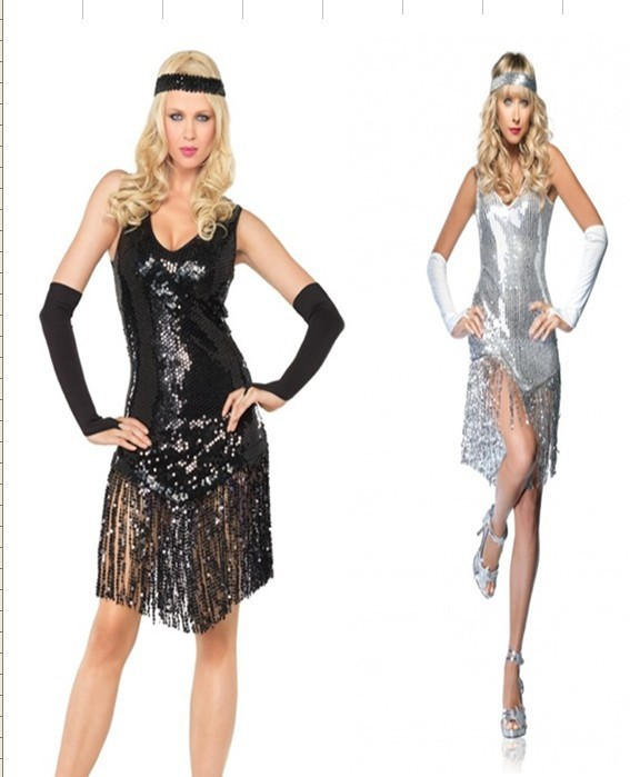 online shop flapper costumes adult flapper girl dress halloween roaring 20s fancy dress aliexpress mobile