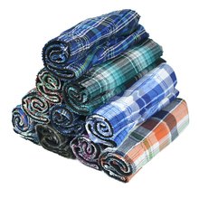 Mens Underwear Panties Shorts Boxers Classic Loose Cotton Plaid Basic Soft Large 10pcs/Set