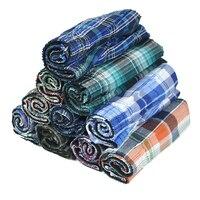 10pcs/set Cotton Soft Large Arrow Pants Mens Underwear Boxers Loose Shorts Men's Panties Classic Basic Plaid Men Boxers