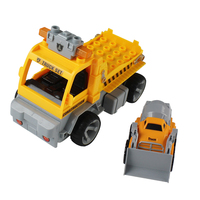 Engineering Car Remote Control Block Trailer Disassembly 4 Channel With Flash Light Decoration Intelligence Children Kids Gift