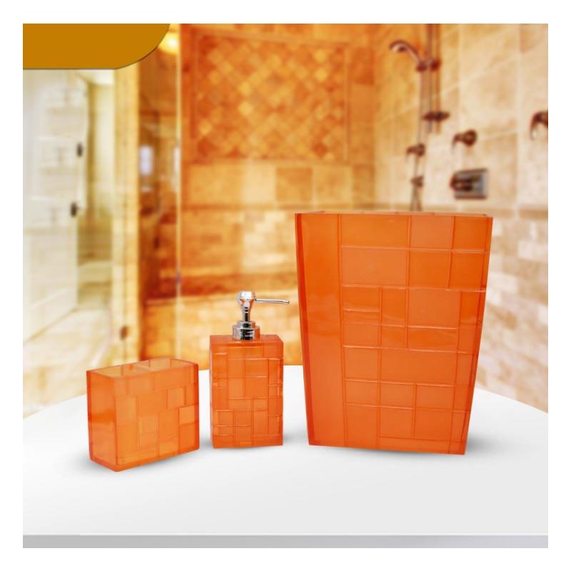 3 pièce/ensemble salle de bain produits résine bouteilles tasses porte-brosse à dents salle de bain accessoires ensembles fournitures de mariage
