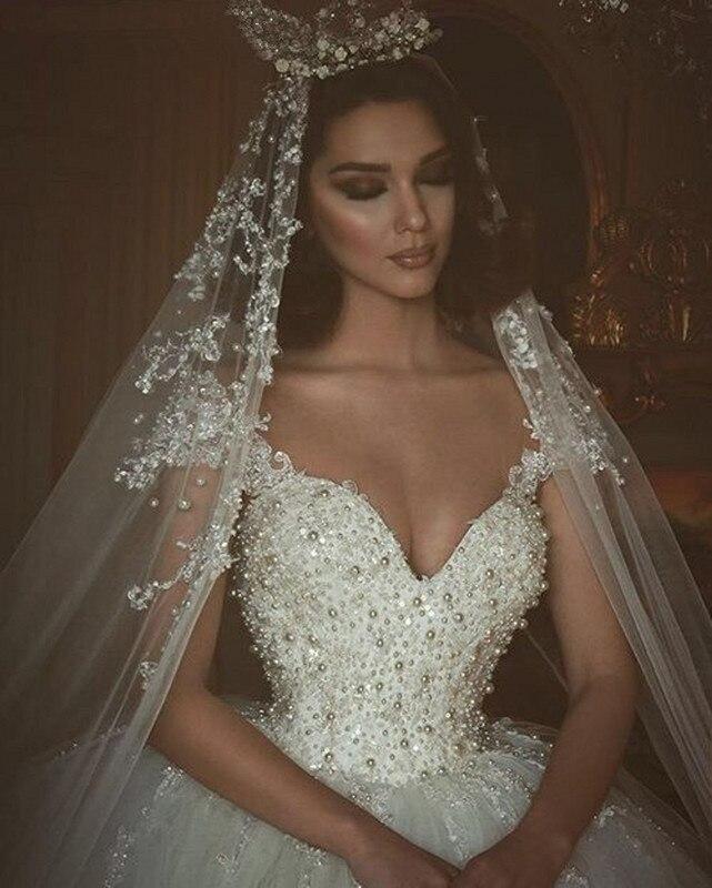 Wedding Gown Veil: Aliexpress.com : Buy Vestidos De Novia Beaded Bridal Gowns