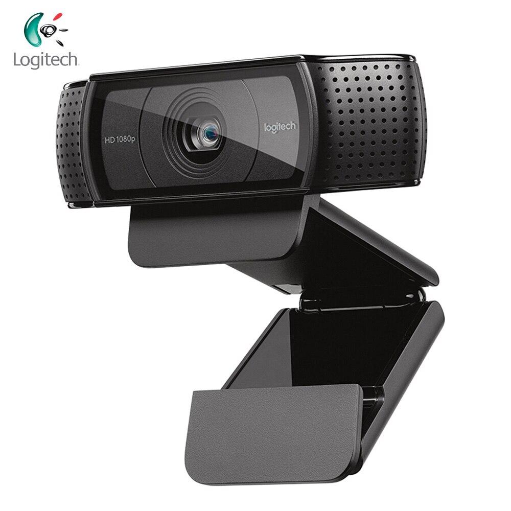 Logitech C920 Full HD 1080P Webcam enregistrement d'appel vidéo caméra Web avec micro pour ordinateur de bureau ordinateur portable