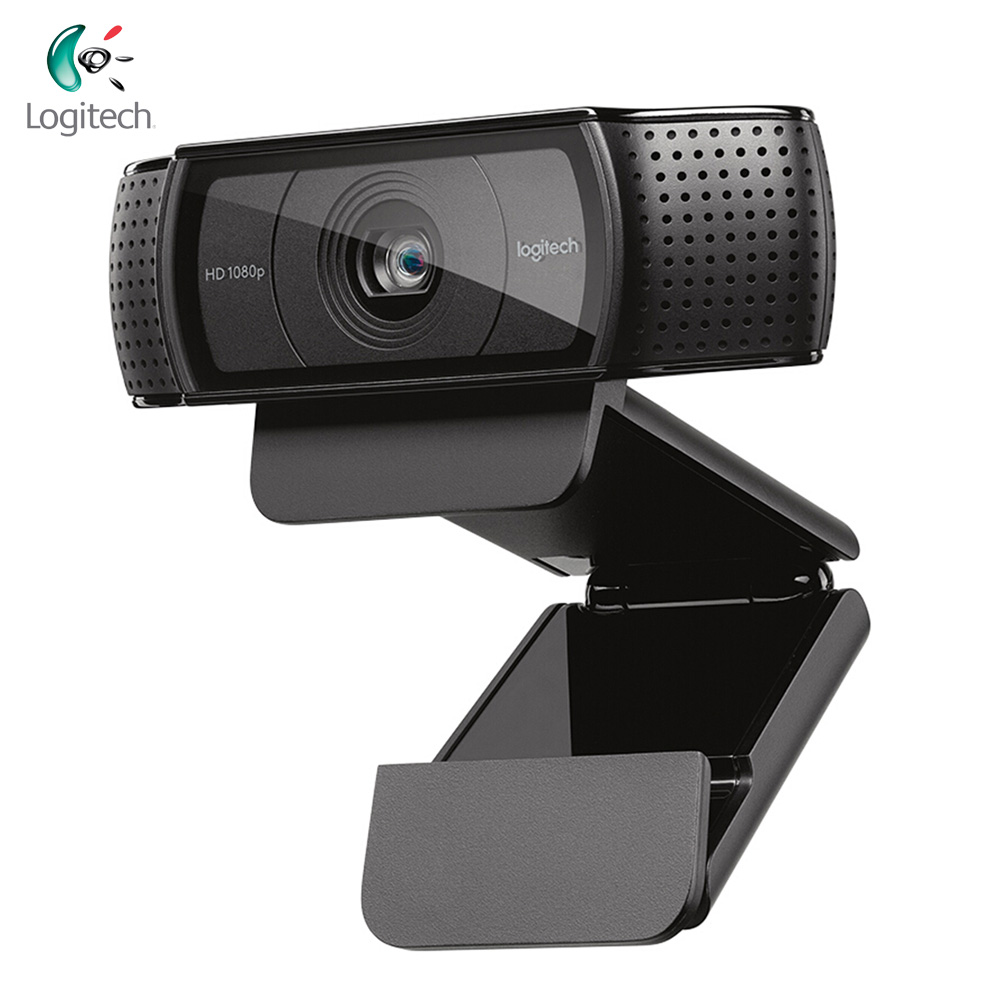 Logitech C920 Full HD <font><b>1080P</b></font> Webcam Video Calling Recording Auto Focus <font><b>Web</b></font> <font><b>Cam</b></font> Camera With Mic For Desktop PC Computer Laptop image