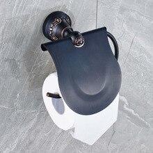 Бесплатная Доставка Настенные Ванная Комната Резные Масло Втирают Бронзовый Держатель Туалетной Бумаги Ролл Вешалка Крышка Папиросной Бумаги