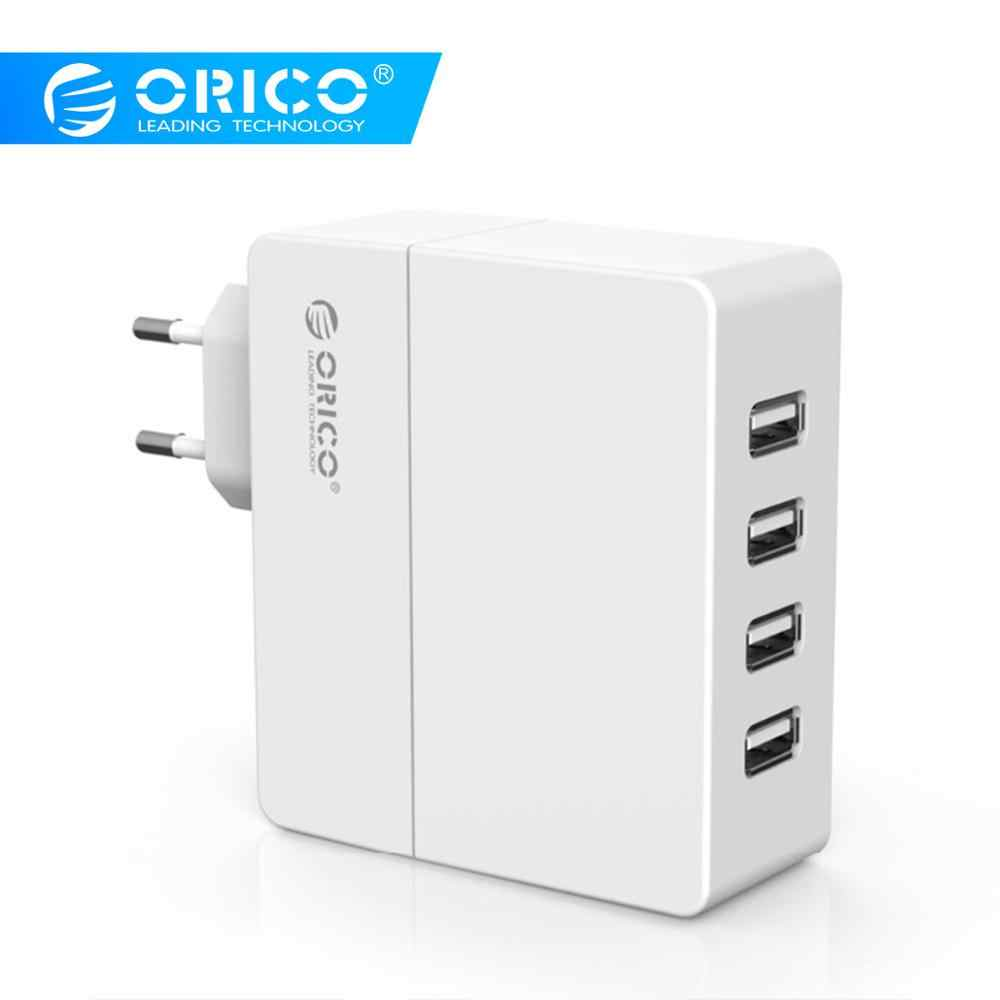 Orico Universal USB Charger 4-Port 6.8A Smart USB Dinding Charger Adaptor 5V2. 4A * 4 34 W untuk Smart Phone